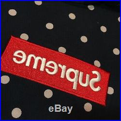 Supreme x CDG Box Logo Hoodie White Dot/Navy/Red