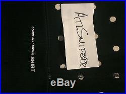 Supreme x CDG Hoody Polka For Navy Comme Des Garçons Box Logo BOGO Sz L Hoodie