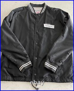 Supreme x Champion Coaches Jacket Black L Box Logo BAPE