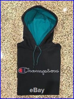Supreme x Champion Hoodie LARGE Box Logo Teal