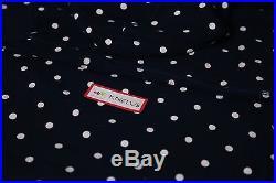 Supreme x Comme Des Garcon CDG Navy Box Logo Pullover Hoodie Polka Dot Size M