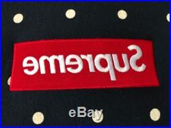 Supreme x Comme Des Garçons CDG Box Logo Hoodie Navy Small Vansen Paris shibuya