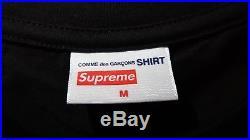 Supreme x Comme Des Garcons (CDG) Box Logo Tee Black Size Medium