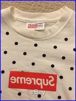 Supreme x Comme Des Garcons CDG Polka Dot Box Logo T-Shirt size Small S/S 2012