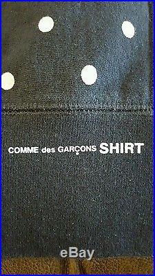 Supreme x Comme Des Garcons CDG Polka Dot Hoodie Black White Garcon Box Logo