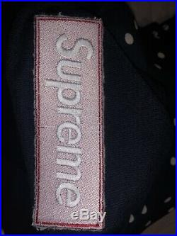 Supreme x Comme Des Garcons Polka Dot Backwards Box Logo Hoodie Sweatshirt 2012