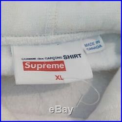 Supreme x Comme Des Garçons SHIRT Box Logo Hoodie S/S 17 in White Size XL