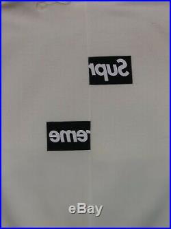 Supreme x Comme Des Garçons Split Box Logo Hoodie Size Large Lightly Used