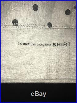 Supreme x Comme des Garcons CDG Box Logo Sweatshirt Hoodie Gray size M medium