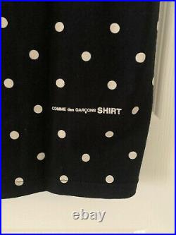 Supreme x Comme des Garcons CDG Box Logo Tee Black Medium Polka Dot Authentic