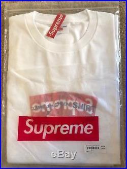 Supreme x Comme des Garcons SHIRT CDG Box Logo White Size Large XL