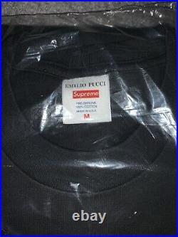 Supreme x Emilio Pucci Box Logo BOGO Shirt Medium Black Black/Blue In Hand