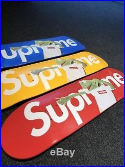 Supreme x Kermit Terry Richardson Box Logo Skateboard Deck Serie