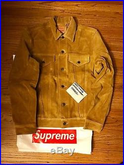 Supreme x Levis suede jacket M brand new DS denim box logo north face