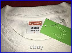 Supreme x Mike Tyson T shirt White DSWT Large L With Tags box logo Japan Rare