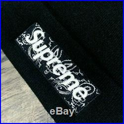 Supreme x New Era Black Box Logo Bandana FW19 Beanie