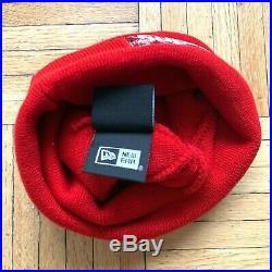 Supreme x New Era Red Box Logo Bandana FW19 Beanie