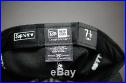 Supreme x New Era Tonal Box Logo Black Cap Size 7 1/8