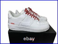 Supreme x Nike Air Force 1 AF1 Low'White' Size 11 CU9225 100 Red Box Logo