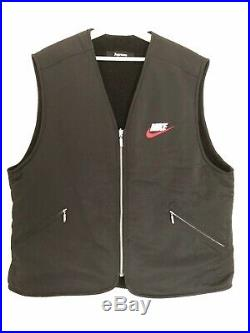 Supreme x Nike Reversible Nylon Sherpa Vest black XL FW 2018 bogo boxlogo air