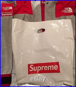 Supreme x North Face 3M Mountain Parka Red L S/S13 box logo 100% Authentic