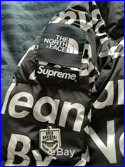 Supreme x The North Face F/W15 By Any Means 700 Nuptse Jacket Black XL box logo