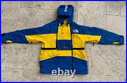 Supreme x The North Face Steep Tech Box Logo Blue Yellow Jacket Sz Medium SS16