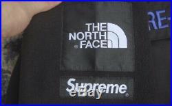 Supreme x The North Face fleece fw18 black whitesize L jacket parka box logo tnf
