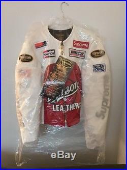 Supreme x Vanson Leathers White Star Jacket Sz Medium Box Logo Bogo