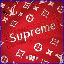 Supreme x louis vuittons box logo Red sz M 100% Authentic