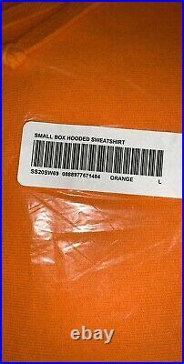 Surpeme Orange Small Box Logo