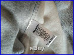 Swarovski x Supreme Box logo Hoodie Hooded Sweatshirt SS19 Grey Size M