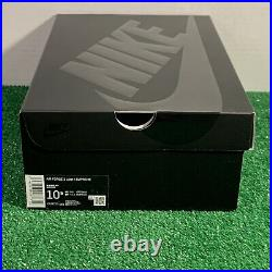 Sz 10.5 Supreme X Air Force 1 Black Box Logo CU9225 001 Brand New Og All