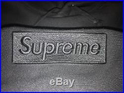 UA Supreme Black Tonal Box Logo Hoodie XL Extra Large F/W 2014
