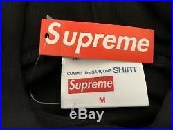 UA Supreme CDG comme des garcons box logo hoodie split FW18 Size Medium