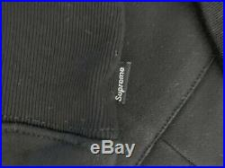 UA Supreme CDG comme des garcons box logo hoodie split FW18 Size Small
