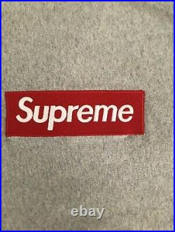 UA Supreme Grey Box Logo Hoodie (Size Large)