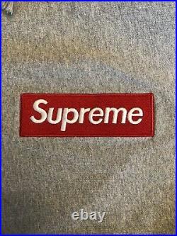 UA Supreme Grey & Red Box Logo Hoodie (Size XL)