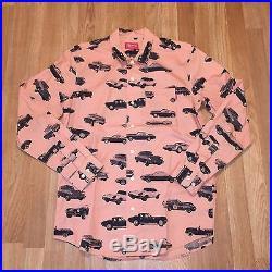 Used Supreme Car Shirt F/w 12 Coral Pink Large L Box Logo Cdg Pcl Sade Button Up