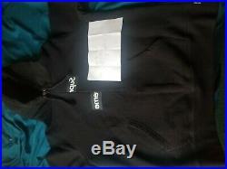 Used Supreme X Cdg Comme Des Garcons Black Split Box Logo Hoodie FW18 Size S