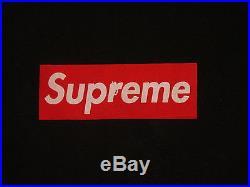VTG SUPREME x'SOPRANOS' RED BOX LOGO ULTRA RARE. BLACK. L