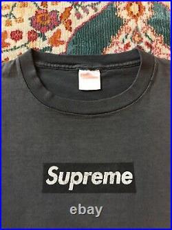 Vintage 1997 Supreme Box Logo T Shirt Sz Large RARE 90s Single Stitch