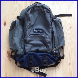 Vintage Supreme 4th Ever Backpack 1998 Gray Bag Box Logo Cordura Holy Grail