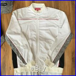 Vintage Supreme Cement Print Track Suits XL & Box Logo Cap RARE 2003 SB Dunk