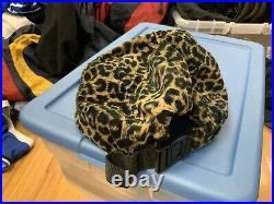Vintage Supreme Retro Cheetah Leopard 5 Panel Box Logo Bogo Rare Vintage Camp