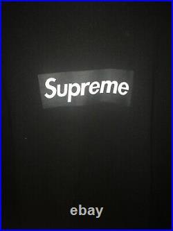 (WORN) Large Supreme 2007 Box Logo Tee Black on Black Box Logo