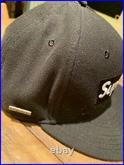 World Famous 2013 SUPREME BOX LOGO GORETEX NEW ERA FITTED HAT BLACK F/W14 7 5/8