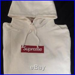 (XL WHITE) Supreme Box Logo Hoodie